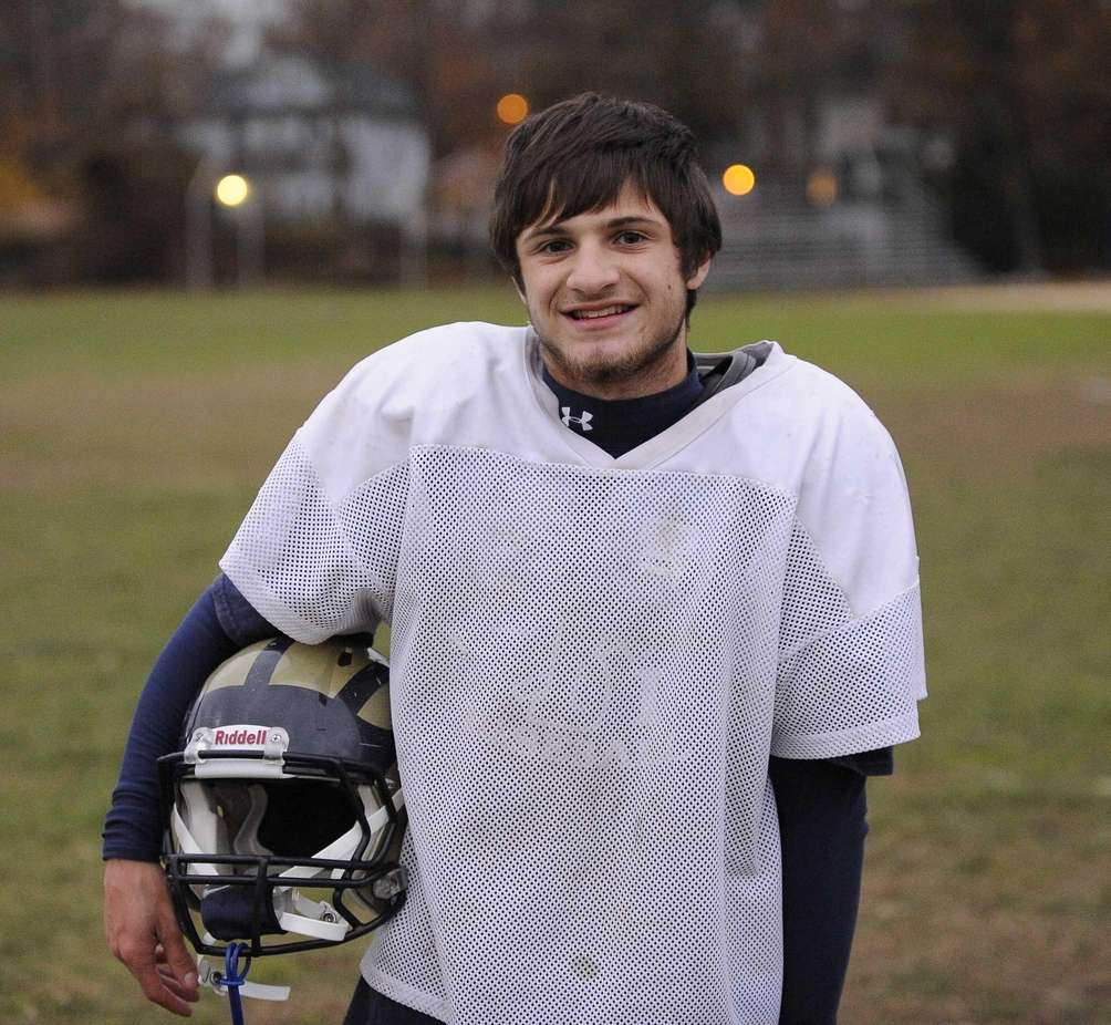 Baldwin quarterback Joe LoBello poses for a photo