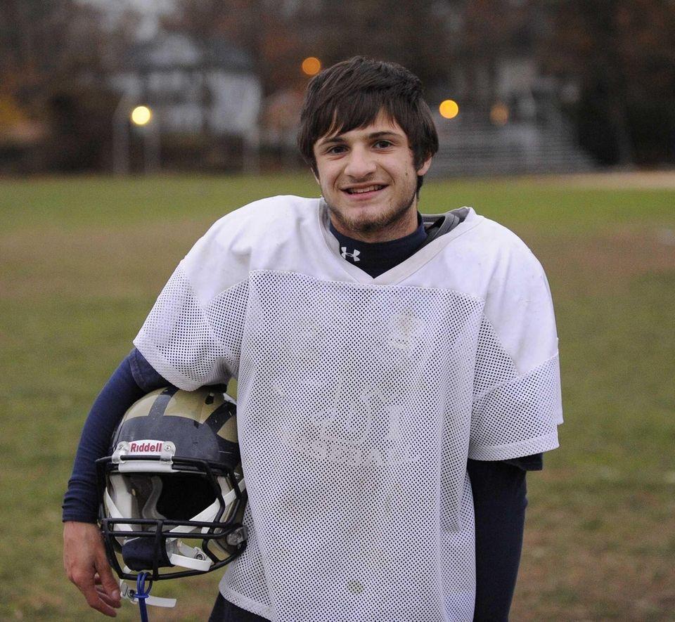 Baldwin quarterback Joe LoBello poses for a photo