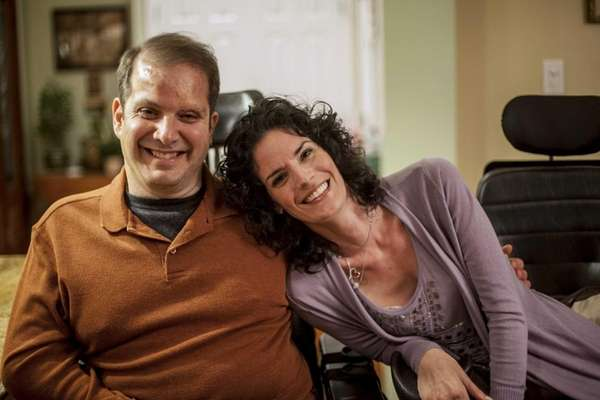 Frank Sciaretta and Emily Costanza share a smile