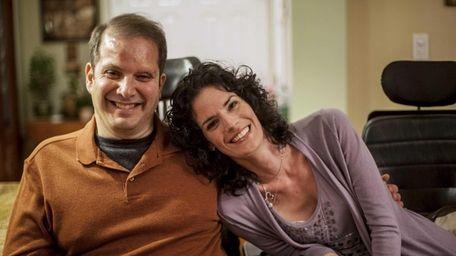 Frank Sciaretta and Emily Costanza share a smile