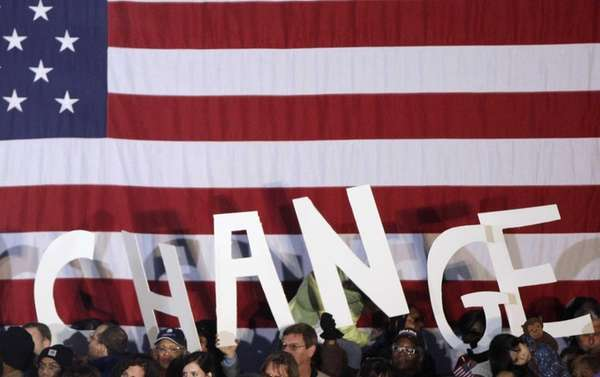 A Nov. 2, 2008, campaign rally for Barack