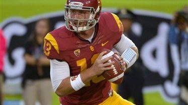 USC freshman quarterback Max Wittek gets set to