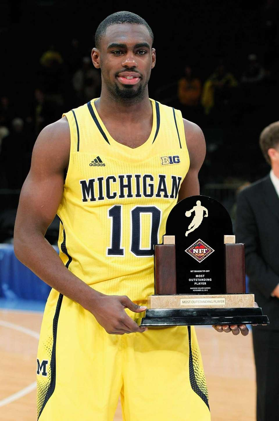 Tim Hardaway Jr. of the Michigan Wolverines poses