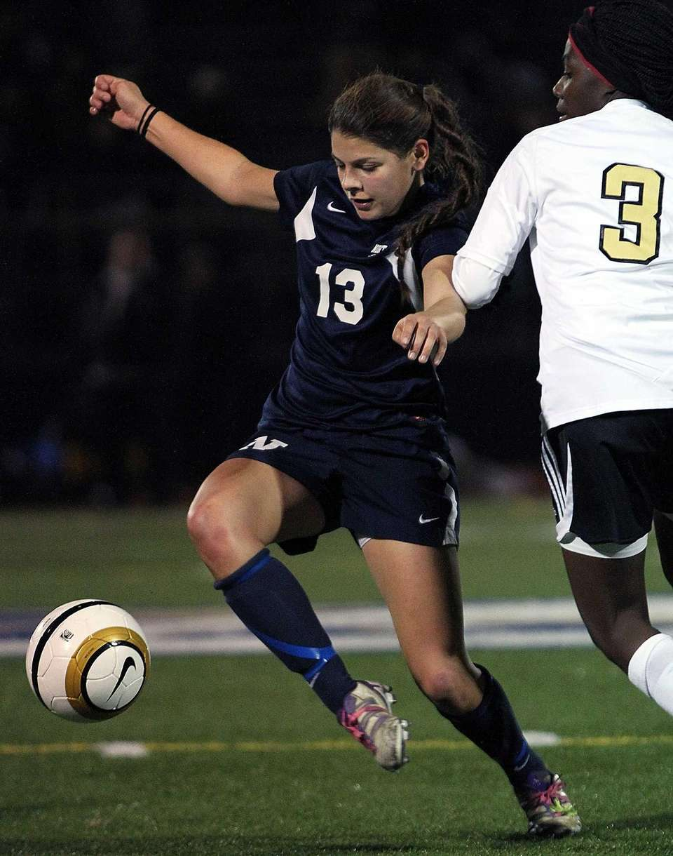 Northport's Jamie Borden gains control of the ball