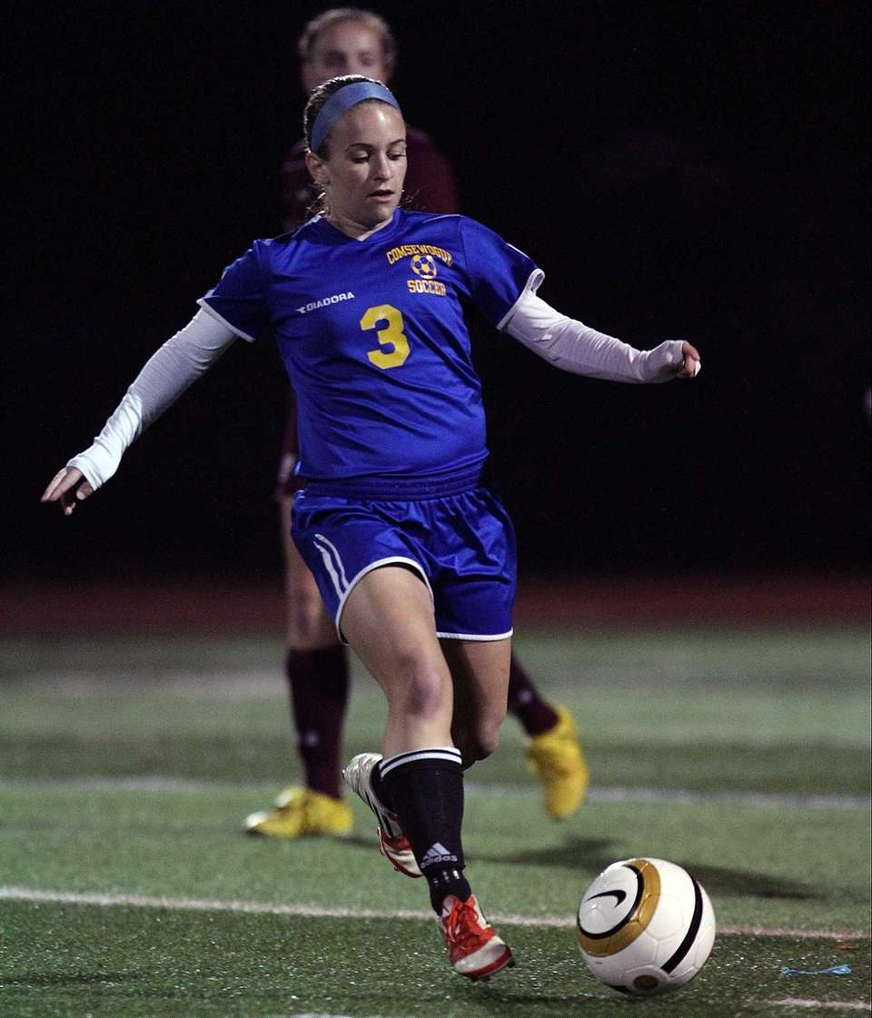 Comsewogue's Sloane Lipshie controls the ball during the