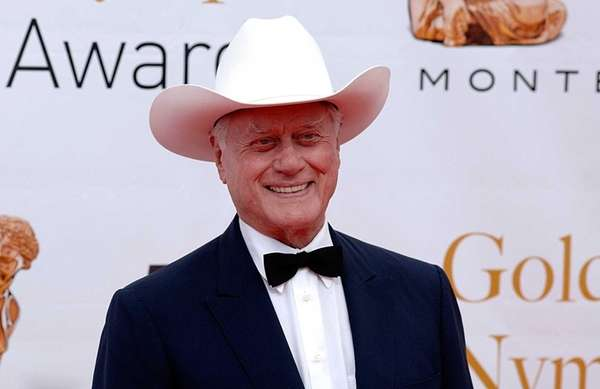 Actor Larry Hagman before the closing ceremony of