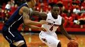 Stony Brook's Anthony Jackson drives from the top