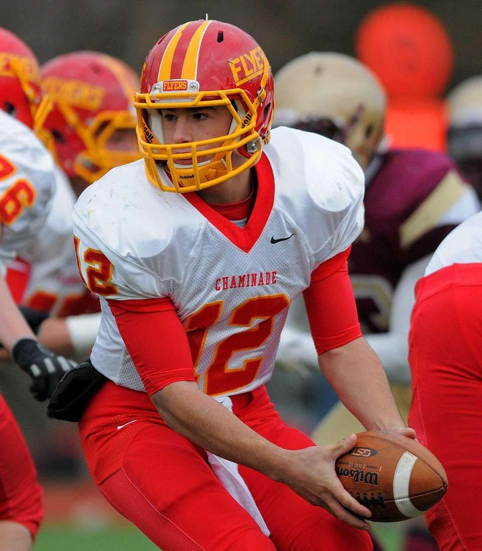 Chaminade quarterback Sean Cerrone takes a snap in