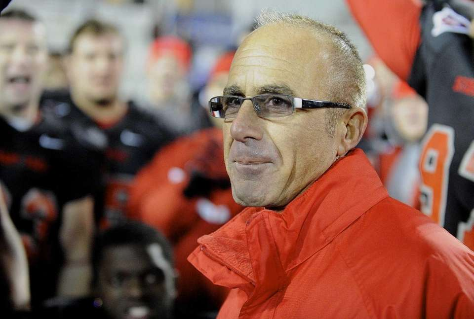 Stony Brook head coach Chuck Priore is seen
