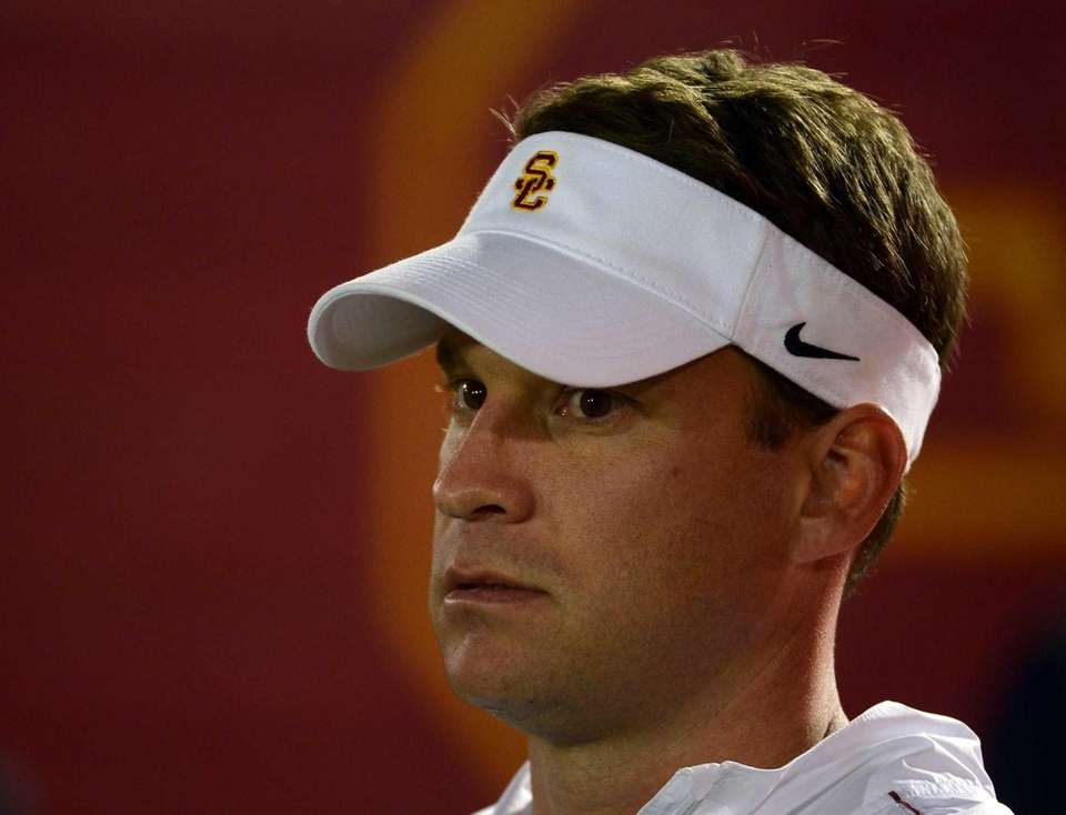 Head coach Lane Kiffin of the USC Trojans