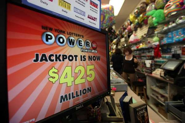 Powerball lottery tickets are sold at Village Cards