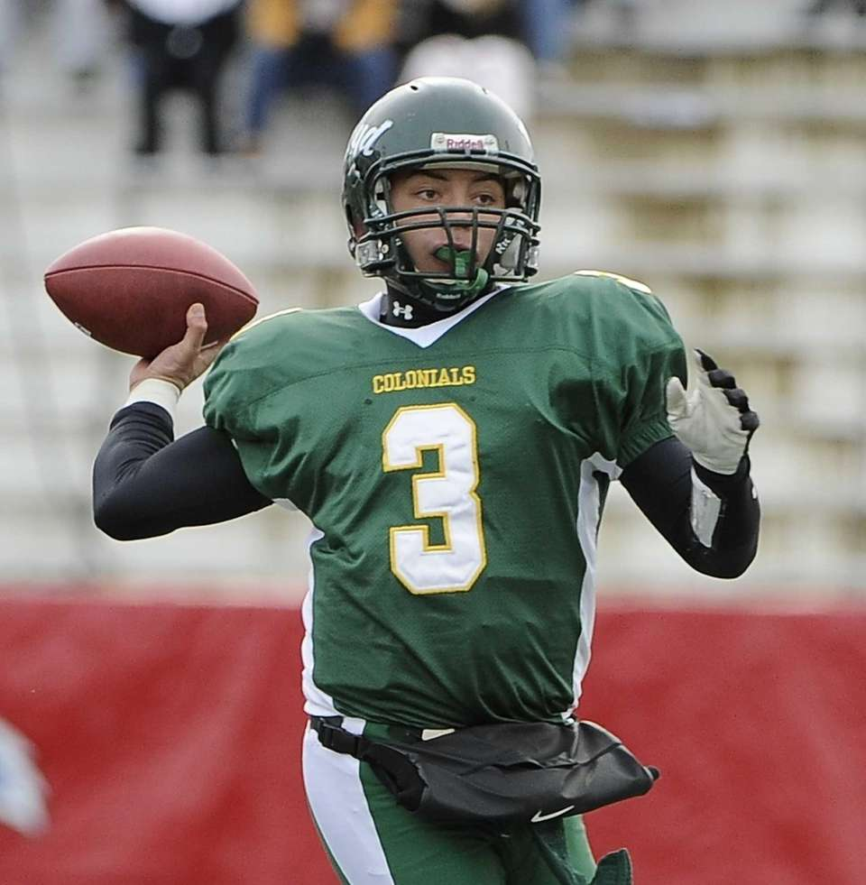 Floyd quarterback A.J. Otranto looks for an open