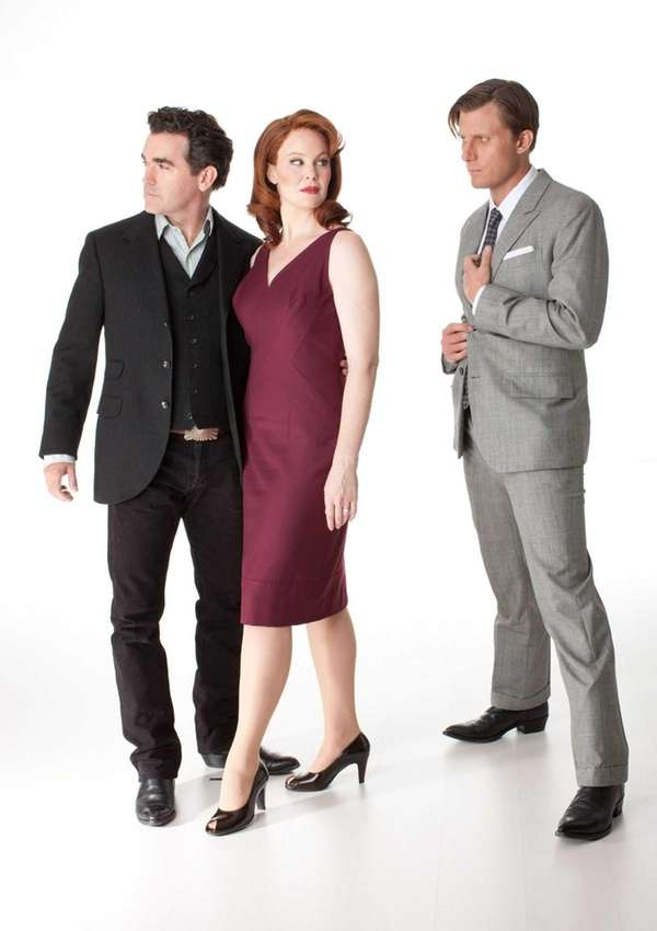 Brian d'Arcy James (from left), Kate Baldwin and