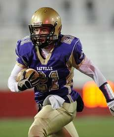Sayville's Matthew Selts gains yards against Westhampton in