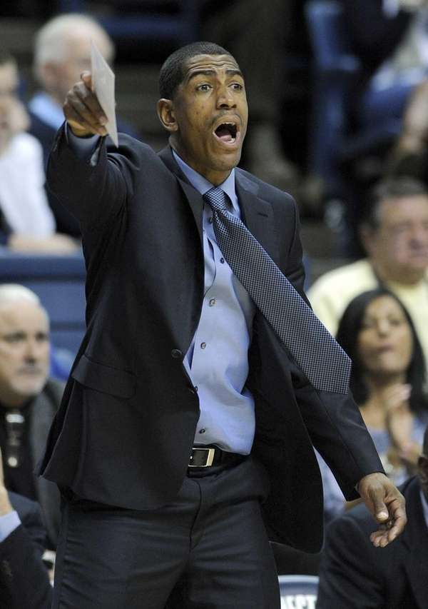 Connecticut coach Kevin Ollie reacts during the second