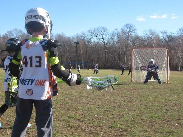 Ryan Herr, 7, of Wading River, and Cameron