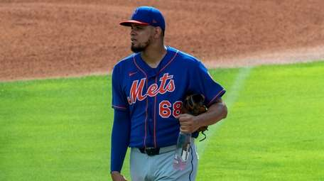 Mets pitcher Dellin Betances during a spring training