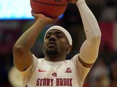 Stony Brook Seawolves guard Makale Foreman shoots from