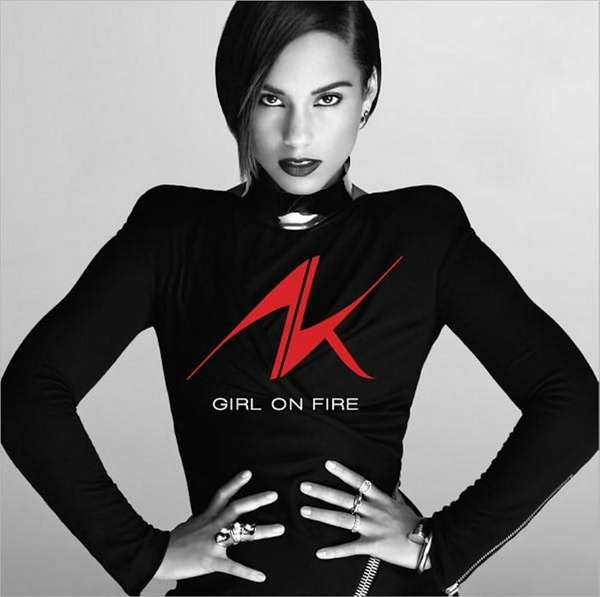 The album cover for 'Girl on Fire' by