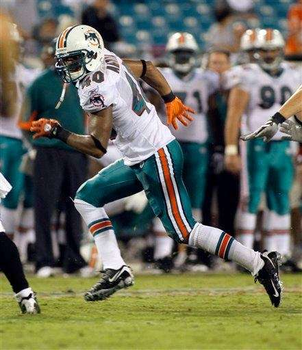 Miami Dolphins safety Jonathon Amaya runs during the