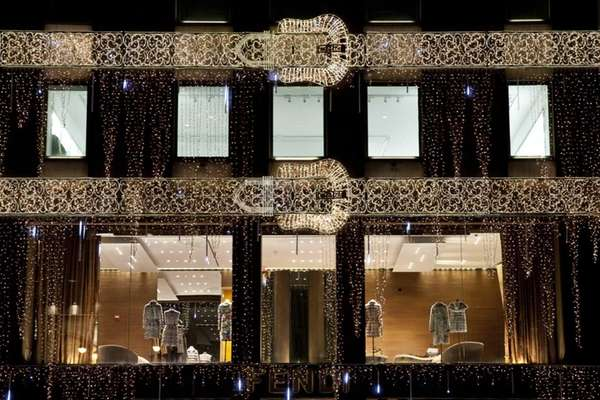 Classic Fendi belts made of holiday lights appear