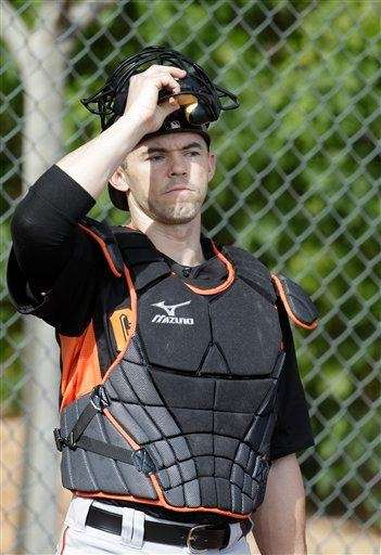 Former San Francisco Giants catcher Eli Whiteside during