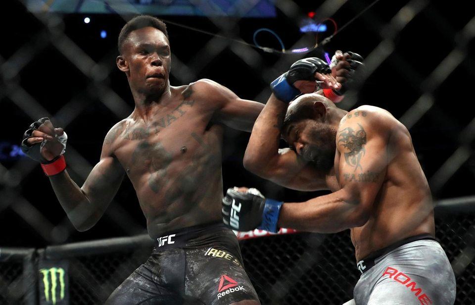 UFC middleweight champion Israel Adesanya and Yoel Romero