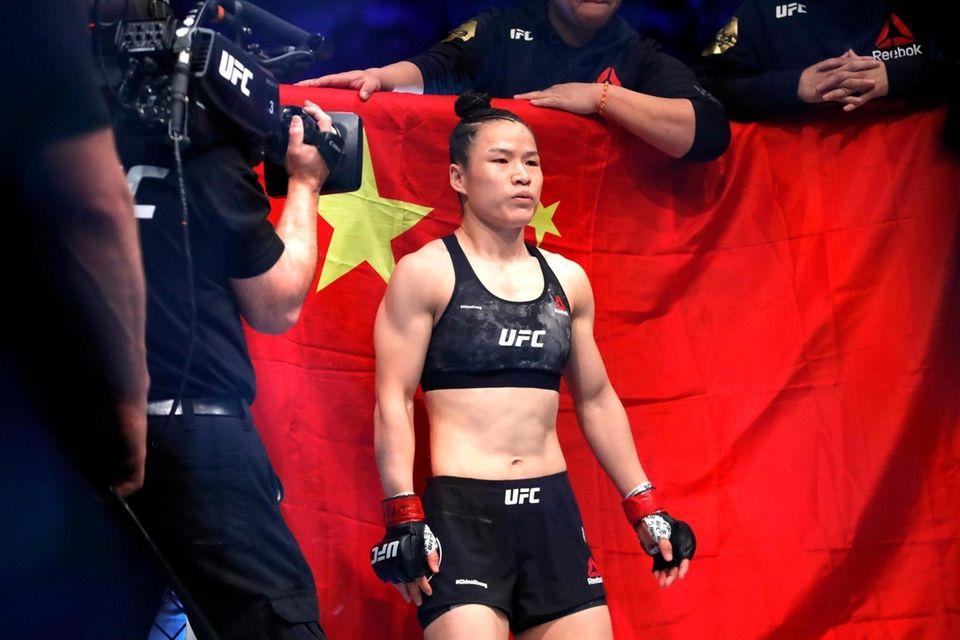 UFC women's strawweight champion Weili Zhang of China