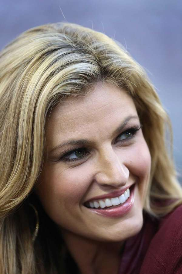Fox Sports sideline reporter Erin Andrews during a