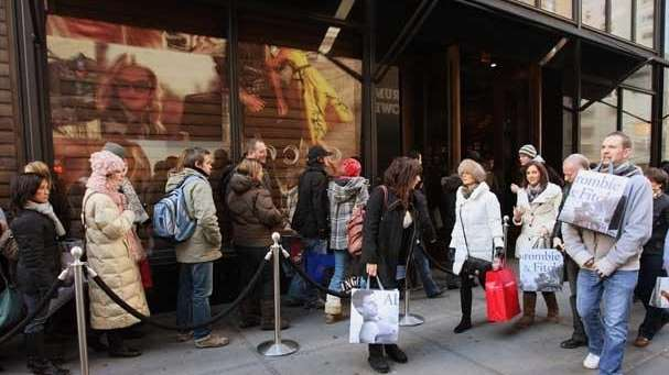 The Fifth Ave. Abercrombie & Fitch store, December,