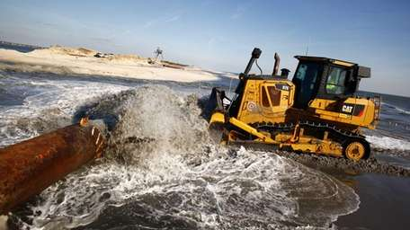 Sand is being pumped out from Moriches inlet