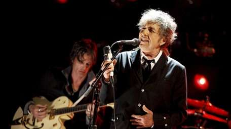 Bob Dylan performs during the Critics' Choice Movie