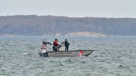 The U.S. Coast Guard and local police patrolled