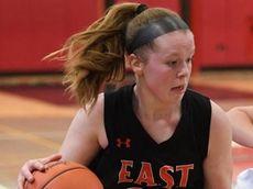 East RockawayÕs Riley O'Hagan drives the ball defended