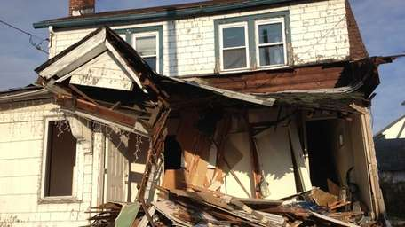 A Hempstead home the morning after a NICE