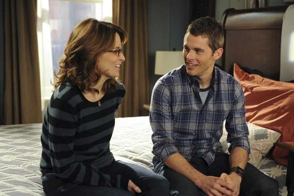 Tina Fey as Liz Lemon and James Marsden