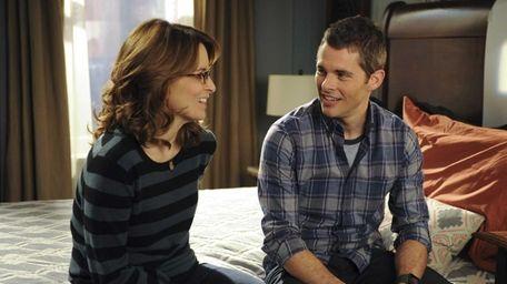 Tina Fey as Liz Lemon and James Marsden