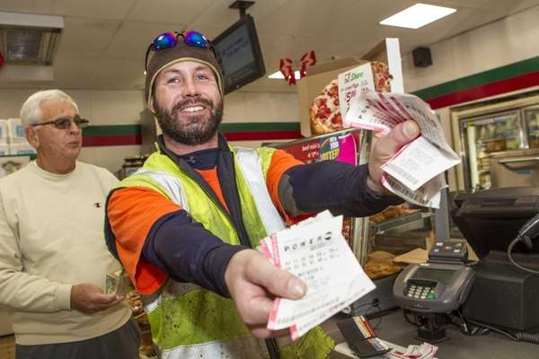 Brad Abbott from Water Mill made his Powerball
