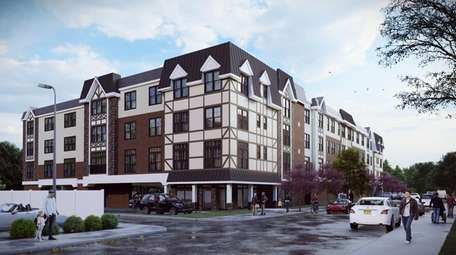 A rendering shows the future 80-unit Cornerstone at