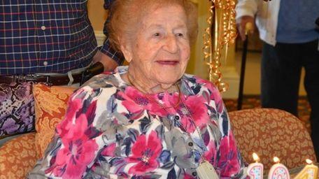 Ida Zipkis celebrated her 104th birthday at The