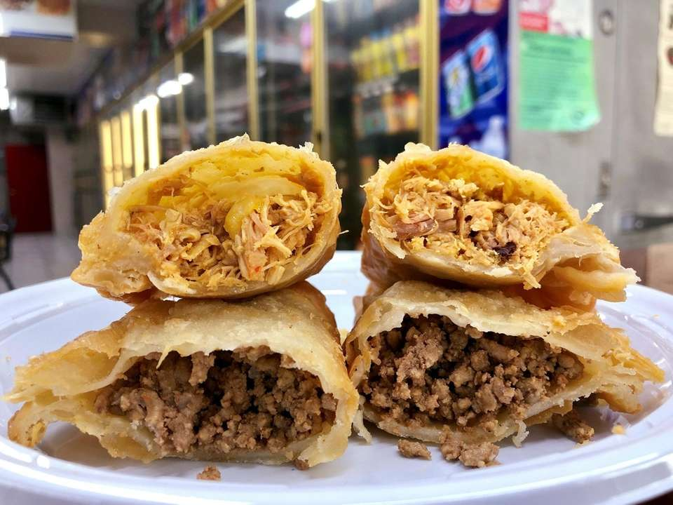 At Caribeno in Holbrook, empanadas are filled with