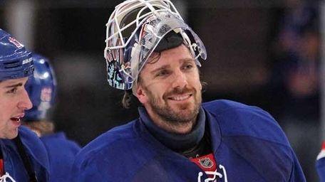 Henrik Lundqvist #30 of the New York Rangers.