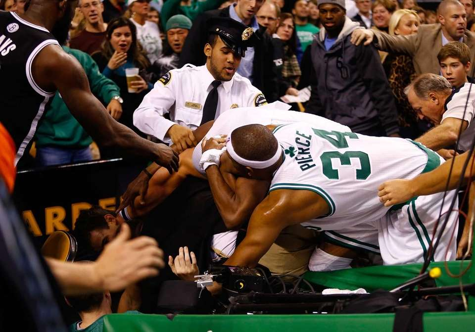 Paul Pierce and Rajon Rondo of the Boston