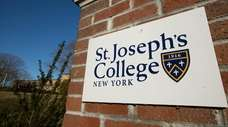 Signage for St. Joseph's College is pictured along