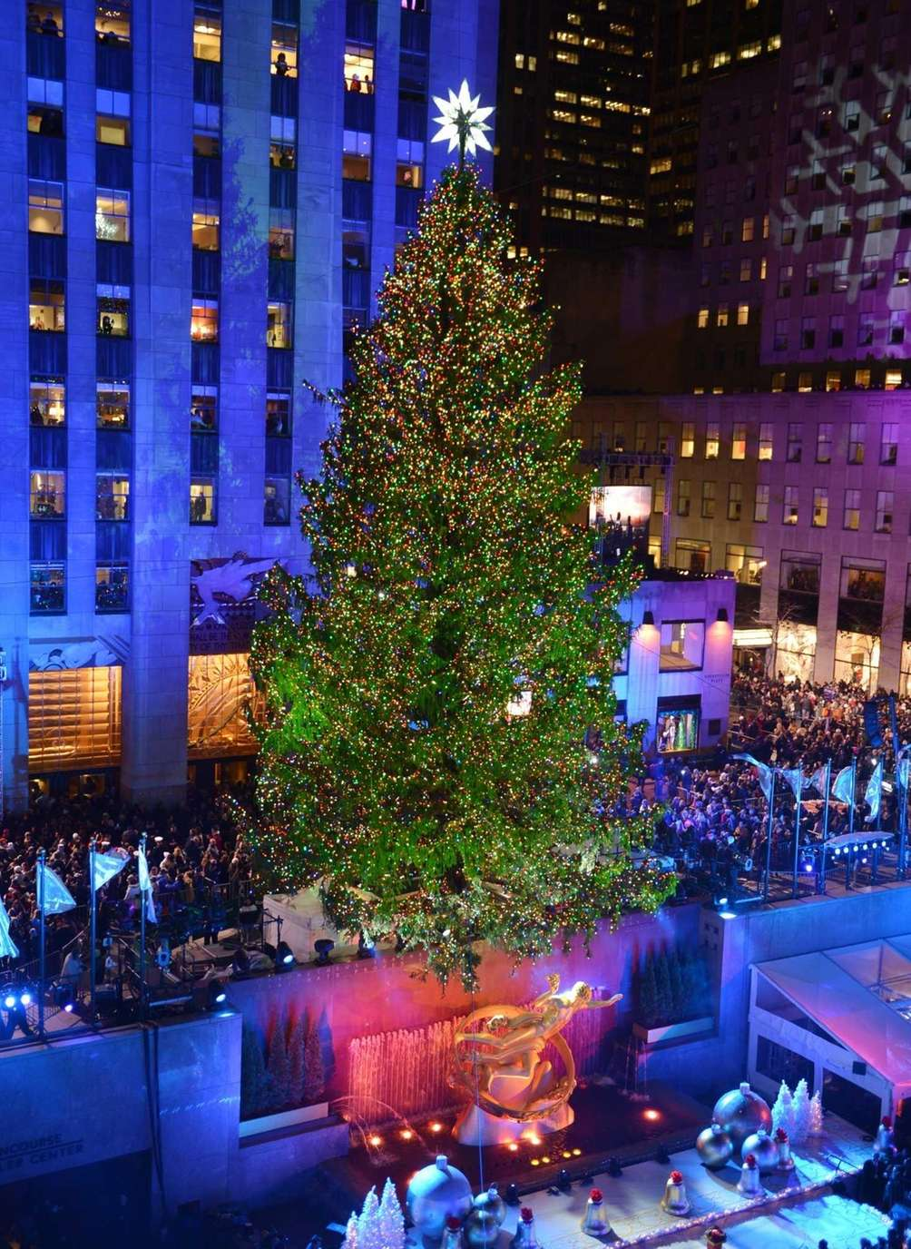 The Rockefeller Center Christmas tree after its annual