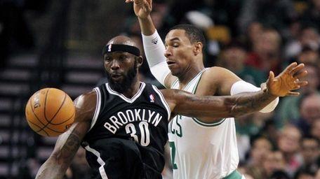Boston Celtics' Jared Sullinger loses control of the