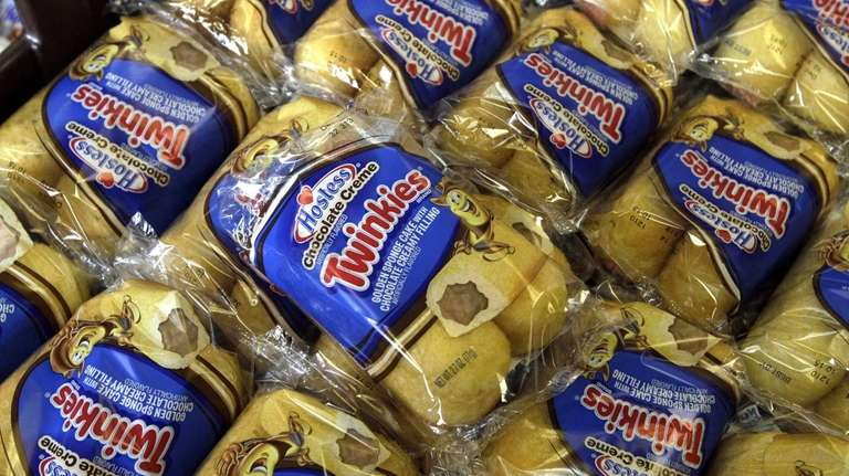 Twinkies baked goods are displayed for sale at