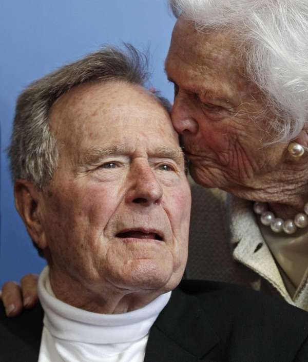 Former President George H.W. Bush, and his wife