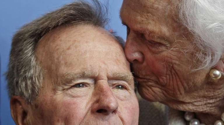 Former President George H.W. Bush and his wife,