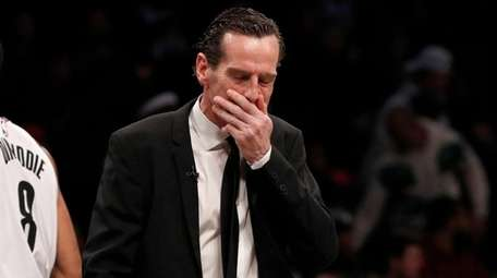 Head coach Kenny Atkinson reacts during the second